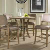102013 Charleston 5-Piece Counter Height Round Wood Dining Set with Parson Stool - Free Shipping!
