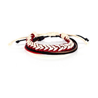 River Island MensRed and white woven wrist pack