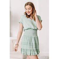 In Mint Condition Smocked Waist Mini Dress