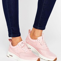 Nike Air Max Thea Basket Weave Trainers In Pink at asos.com