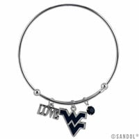 West Virginia Mountaineers Coil Wire Bangle Bracelet