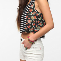 Pins and Needles Mix Print Swing Crop Top