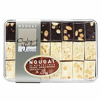 French Nougat Candy in Gift Box by Chabert Guillot, Assorted Flavors, 8.8 oz.