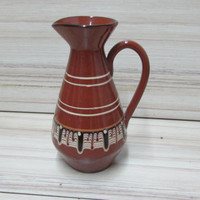 Vintage Art Bulgarian Troyan pottery / Ceramic Jug of Brandy, Wine or Spirits / Bulgarian Ceramic Jug / Pottery from Bulgaria / Gift idea.
