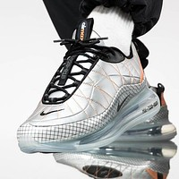 NIKE MAX-720-818 Trending Knit Line Shoe Plaid Shoes Sneakers Silver