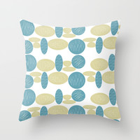 Pebbles Throw Pillow by Hedehede