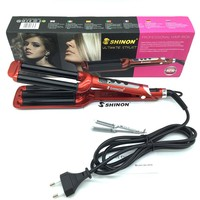 Hot Sell lProfessional Electric LCD Hair curler High Quality 3 Barre Hair Curly Iron Ceramic Deep Waver Curling Irons