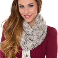 Hollis Infinity Scarf - Silver - One Size / Silver
