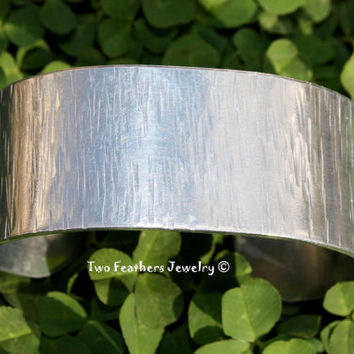 Textured Cuff Bracelet - Wide Cuff - Hammered Cuff - Aluminum Cuff - Gift For Her - Gift For Him - Mothers Day - Fathers Day - Metal Cuff