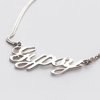 Gypsy Nameplate Necklace | Spell & the Gypsy Collective