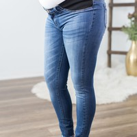 Kan Can- Light Wash Maternity Jeans