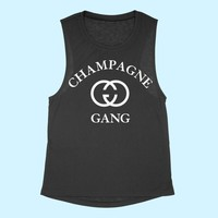CHAMPAGNE GANG MUSCLE TANK