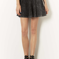High Waisted Denim Look Skater Skirt - New In This Week - New In - Topshop USA