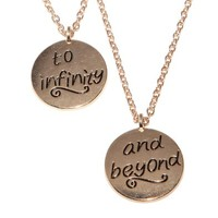 Lux Accessories Best Friends BFF Forever To Infinity & Beyond Necklaces (2 PC)