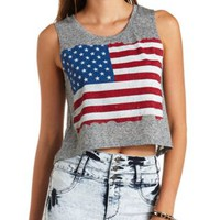 American Flag Graphic Crop Top by Charlotte Russe