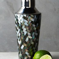 Tiled Nacre Cocktail Shaker by Anthropologie in Grey Size: One Size Kitchen