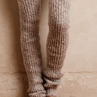 Lemon Ribbed Over-The-Knee Legwarmers in White Size: One Size Shoes