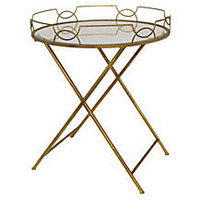 One Kings Lane - The Chic Boutique - Beveled Mirror Folding Table