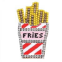 Fashion Fries Rhinestone Pin