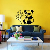 Panda Wall Decal Animal Teddy Bear Bruin Decals Wall Vinyl Sticker Home Interior Wall Decor for Any Room Housewares Mural Design Graphic Bedroom Wall Decal Nursery Kids Baby Decor Children's Room Decals (5978)