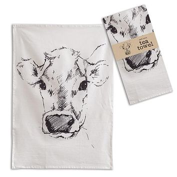 Calf Tea Towel - Box of 4