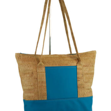 Be Striking Cork & Leather Tote Bag