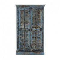 Distressed Blue Wood Almirah