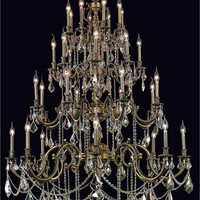 Rowland - Large Hanging Fixture (32 Light Traditional Grand Crystal Chandelier) - 8103G48