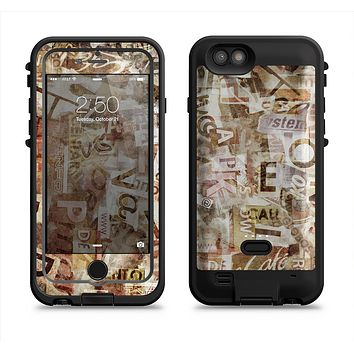 The Faded Torn Newspaper Letter Collage  iPhone 6/6s Plus LifeProof Fre POWER Case Skin Kit