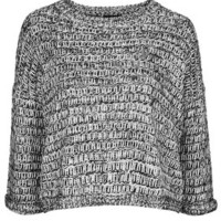 Salt and Pepper Slouchy Sweater - Monochrome
