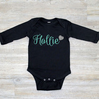Personalized Baby Jumper with Heart - Long Sleeve