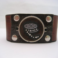 Film Roll Bracelet Hand Carved Leather Jewelry Old Movie Bracelet Leather Bracelet Directors Bracelet  Movie Reel Jewelry Movie Lovers Gift