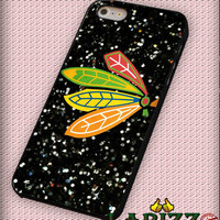 "NHL Chicago Blackhawks on Sparkle for iphone 4/4s/5/5s/5c/6/6+, Samsung S3/S4/S5/S6, iPad 2/3/4/Air/Mini, iPod 4/5, Samsung Note 3/4 Case ""007"""