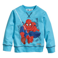 H&M - Sweatshirt with Printed Design - Turquoise - Kids