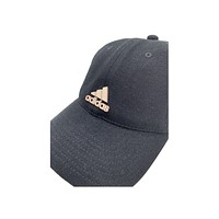 Adidas Women's Black With Brass Three Stripe Life Adjustable Cap