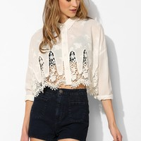 Sister Jane Lace Leaf Blouse - Urban Outfitters