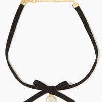 Suede Bow Choker Necklace | Charming Charlie