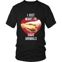 Vet T Shirt - I just want to save Animals