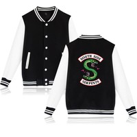 BTS American TV Riverdale Winter Jacket Fashion Jacket Women/men South Side Female Fans Casual Baseball Jacket XXS-4XL 2018 NEW