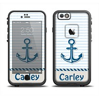 The Blue Highlighted Anchor with Rope Name Script Apple iPhone 6 LifeProof Fre Case Skin Set