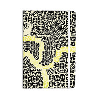 """Theresa Giolzetti """"Oliver"""" Yellow Everything Notebook"""