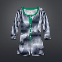 Striped Shorts Onesuit