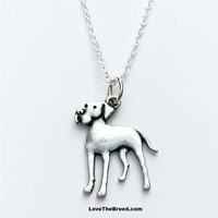 Great Dane Charm Necklace