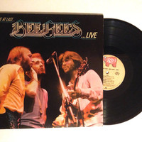 FALL SALE Bee Gees Here At Last Live LP Double Album 1977 Lonely Days Edge Of The Universe Vinyl Record