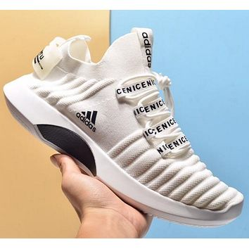 Adidas Breathable braided mesh running shoes