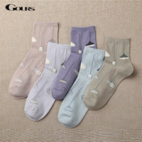 Gours 2016 New Fall and Winter Womens Socks Fashion Brand Long Cotton Socks Lot Casual Funny Japanese Socks for Women WS006
