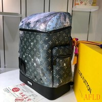 HCXX 19Aug 625 Louis Vuitton LV M44174 Outdoor Galaxy Print Canvas Alpha Backpack 32.5-50-17.5cm