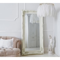 Double-Framed Marquise Ivory Mirror | French Mirror