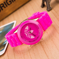 Trendy Pink Silicone Watch