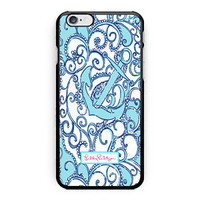 New Lilly Pulitzer Custom Anchor Print On Hard Case For iPhone 6s 6s plus